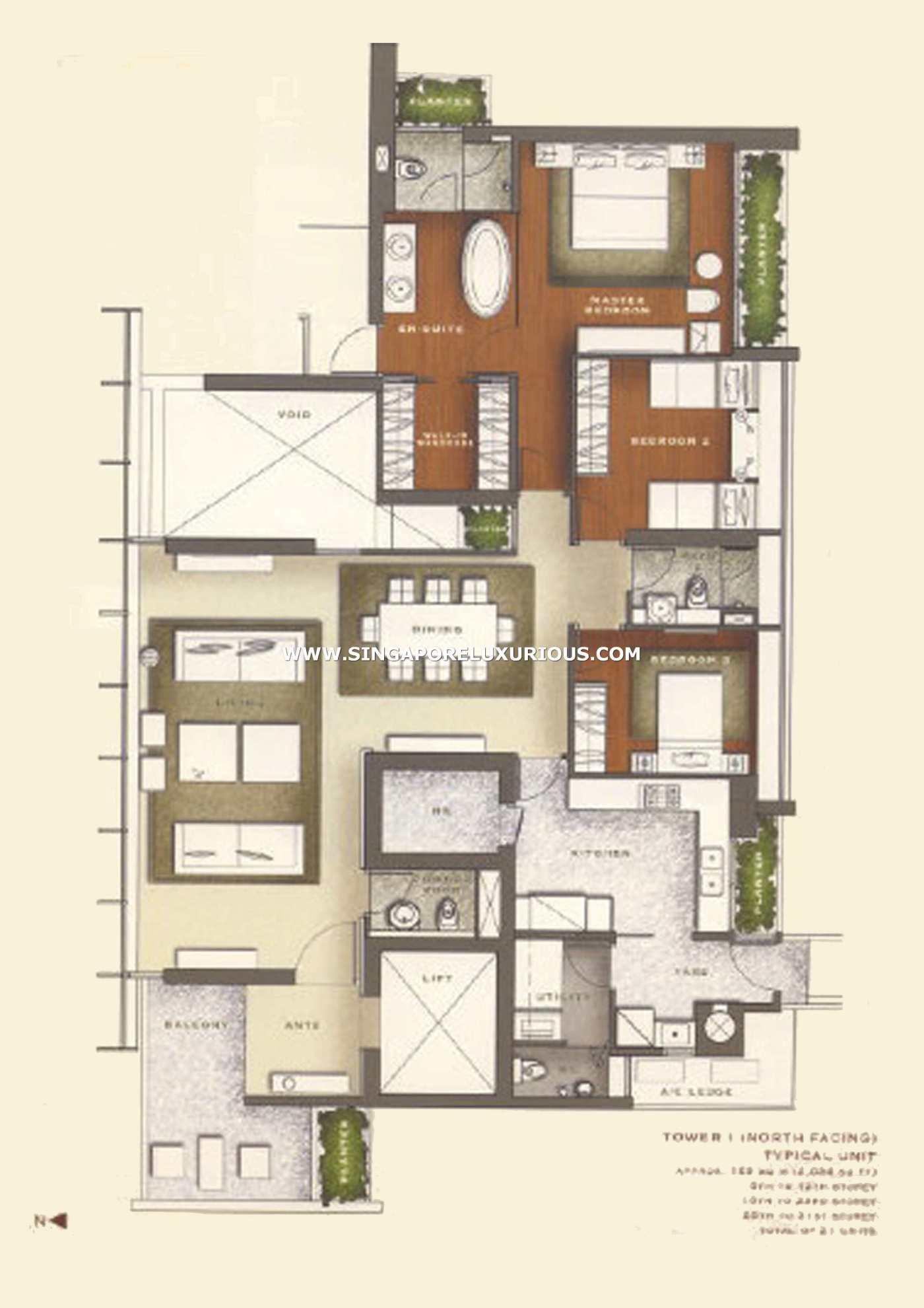 Boulevard Residences Site Floor Plan Singapore Luxurious Property