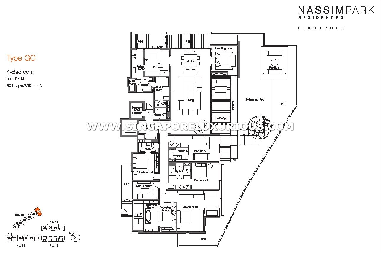 Nassim Park Residences Site & Floor Plan