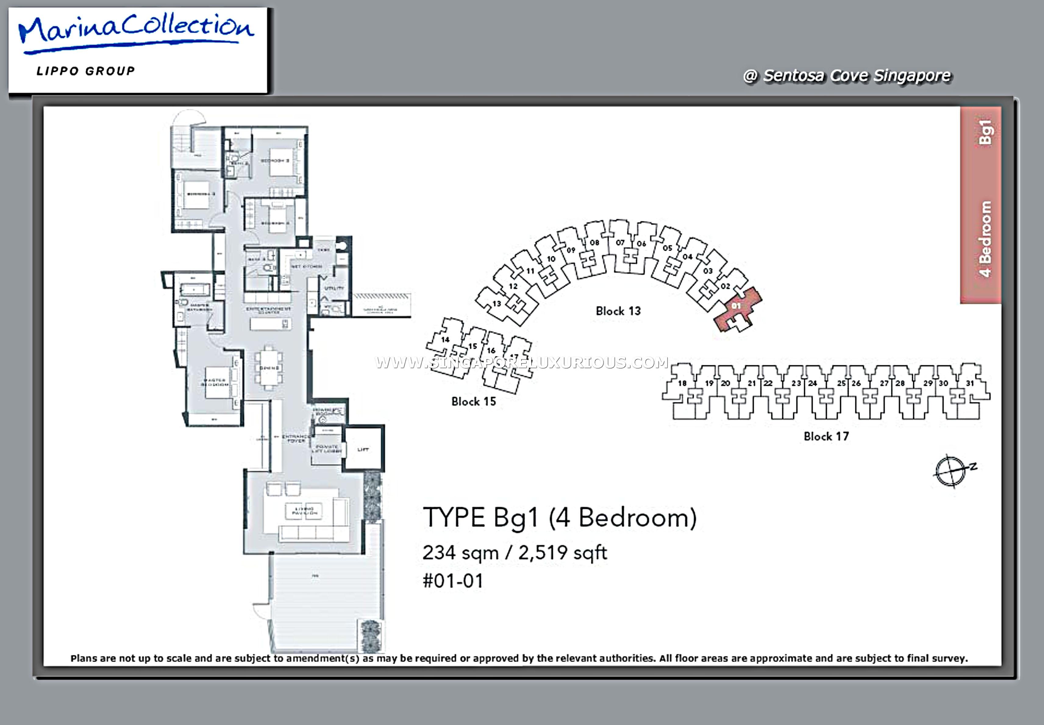 Marina Collection Site Amp Floor Plan Singapore Luxurious Property