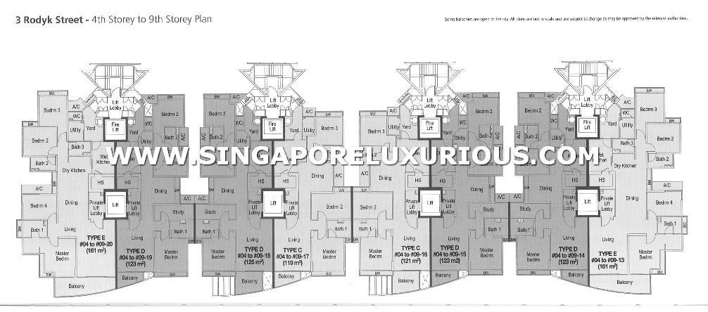 Watermark Site Amp Floor Plan Singapore Luxurious Property