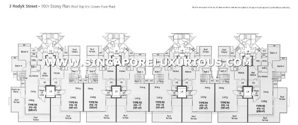 Watermark Site Amp Floor Plan Singapore Luxurious Property
