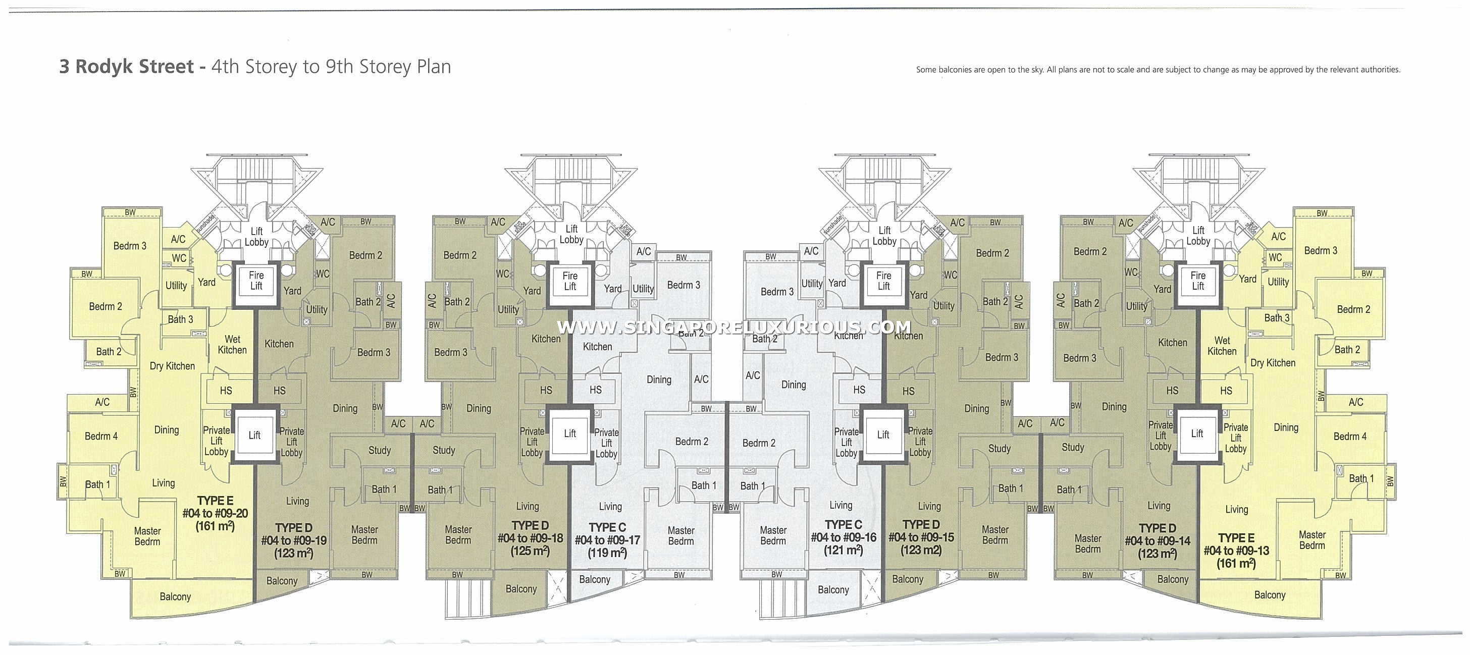 watermark site floor plan singapore luxurious property