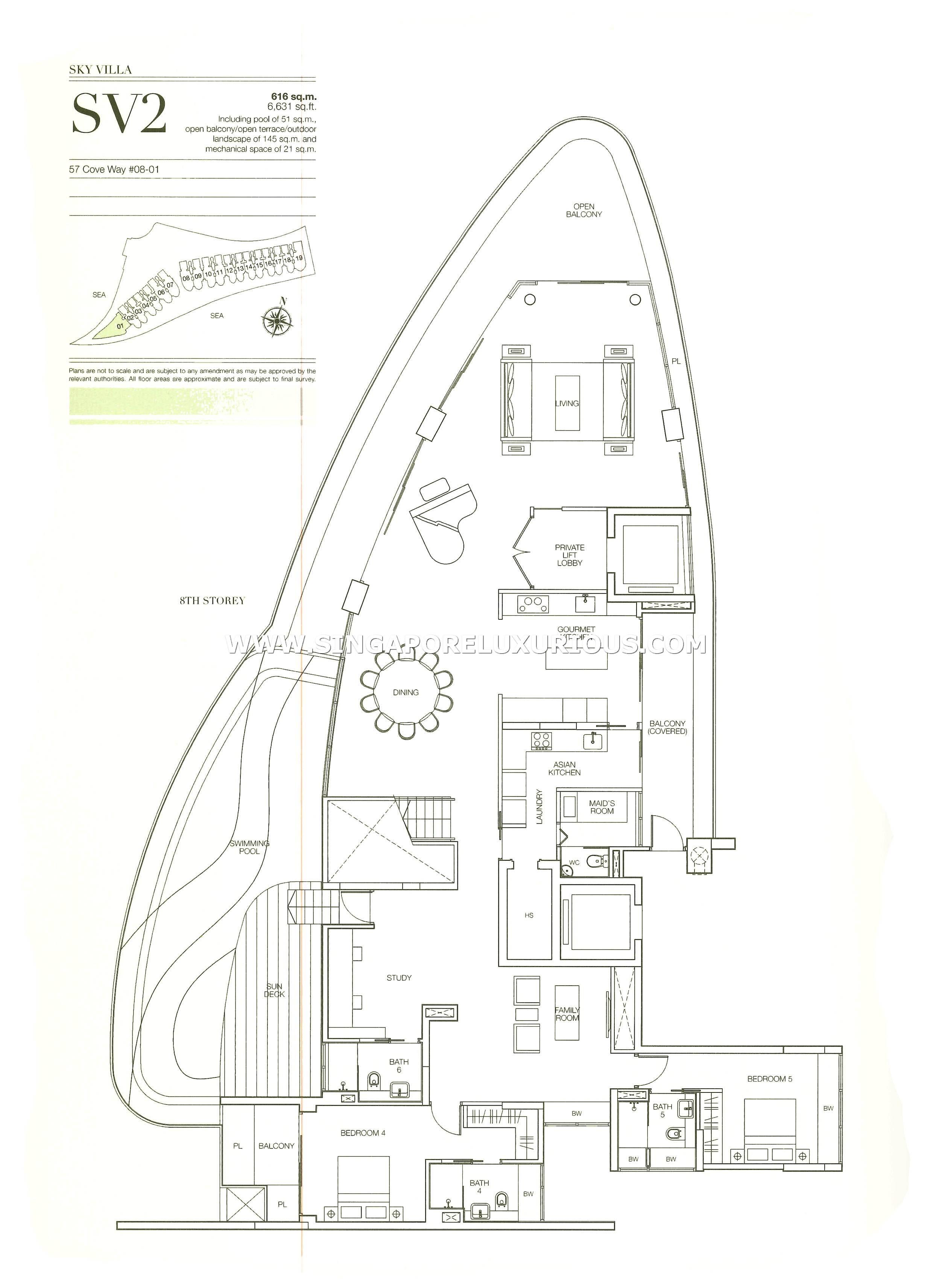Seascape Sentosa Cove Site Amp Floor Plan Singapore