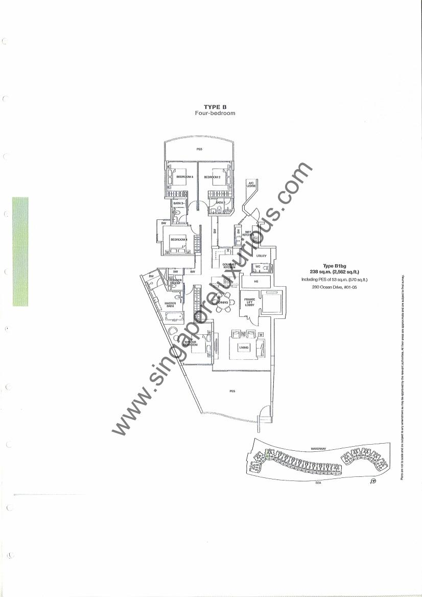 Coast Sentosa Cove Site Amp Floor Plan Singapore