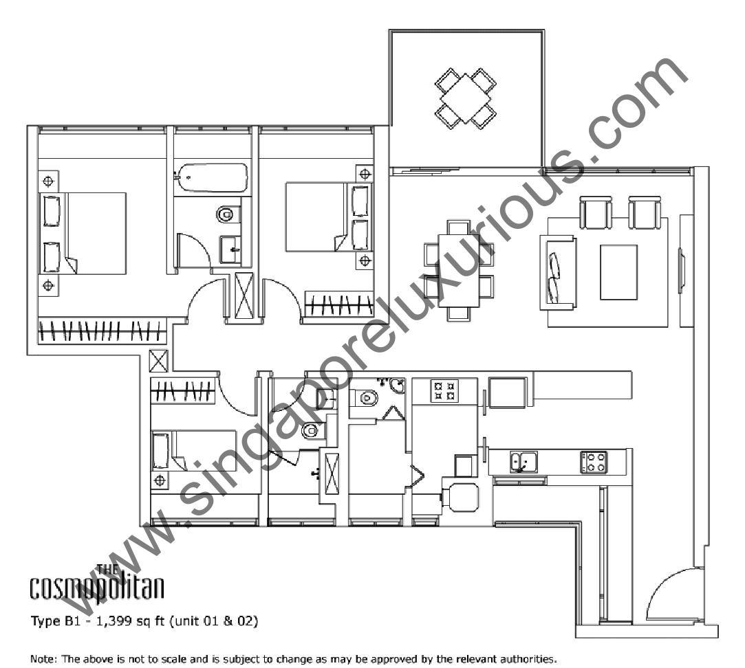 The Cosmopolitan Site Floor Plan Singapore Luxurious Property
