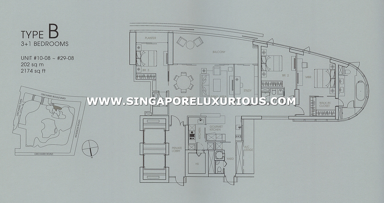 Orchard Residences Site Amp Floor Plan Singapore Luxurious